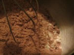 Combine cake mix and flour