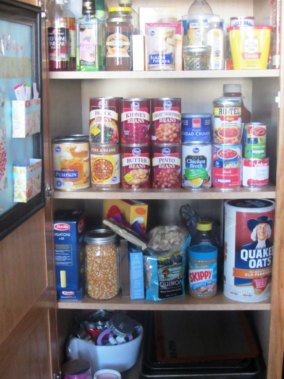 The pantry is all tidy now.