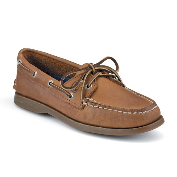 Photo courtesy of Sperry Top-Sider.  Pictured are Women's Authentic Original 2-Eye Boat Shoes in Sahara Leather.
