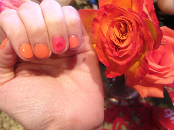 They match the roses!  Nicely done, Joshua (on the roses, not for painting my nails...I did that part).