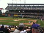 A horribly blurry pic, but nice seats, huh?!