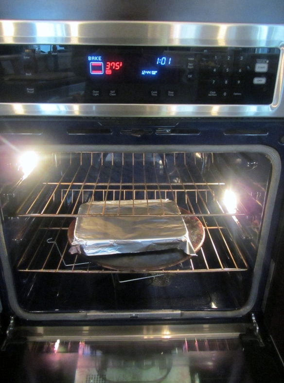Wrap in foil and bake for 40 minutes.