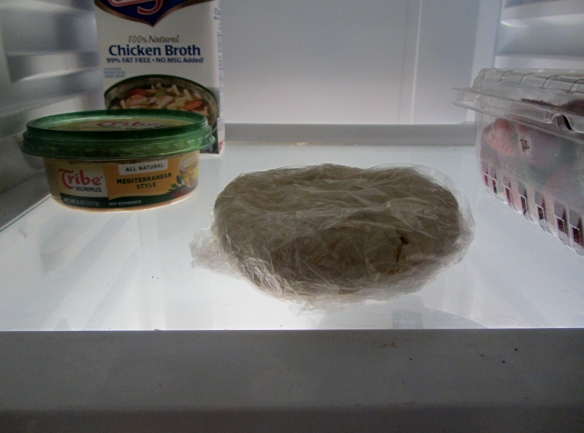 Wrap in plastic and let chill for at least 20 minutes.