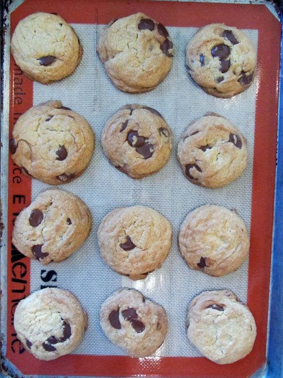 Bake for 12-14 minutes, or until the cookies are turning a light golden brown.