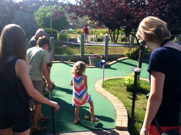 Mini golfing with the fam.