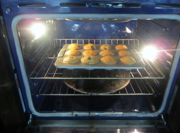 Bake for about 25 minutes or until a toothpick inserted into the center of a muffin comes out clean.