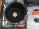Melt butter in a saucepan.