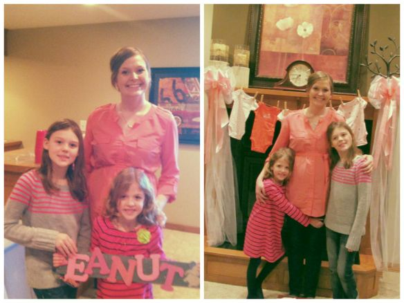 My nieces, Ava and Ruby, made Peanut a sign and made my day so special.