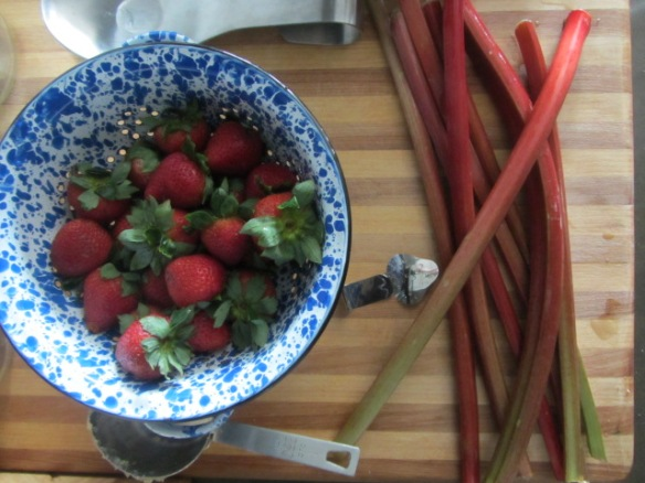 Strawberries and rhubarb are a perfect combo.