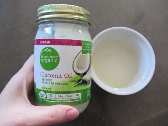 Melt the coconut oil.