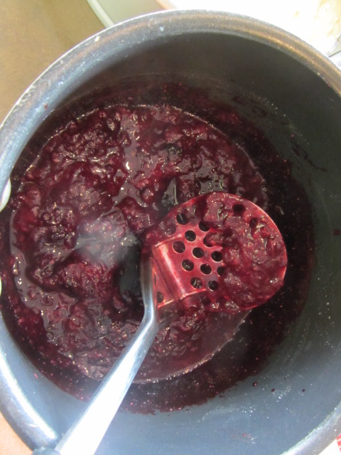 After simmering for 10 minutes, remove from heat, and let the compote cool.