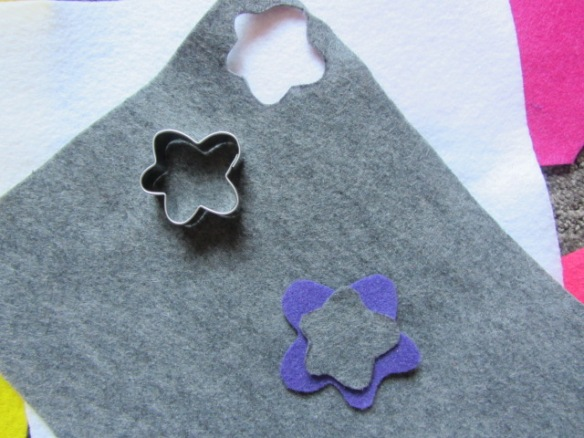 I then cut the same shape in a smaller size.