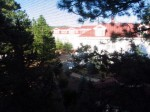 The view from our window: peaceful (and fuzzy from the screen).