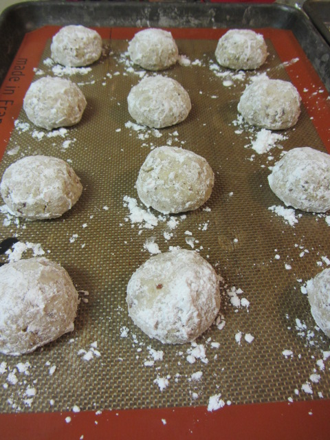 Allow the cookies to cool completely and then roll in powdered sugar again.  Enjoy!