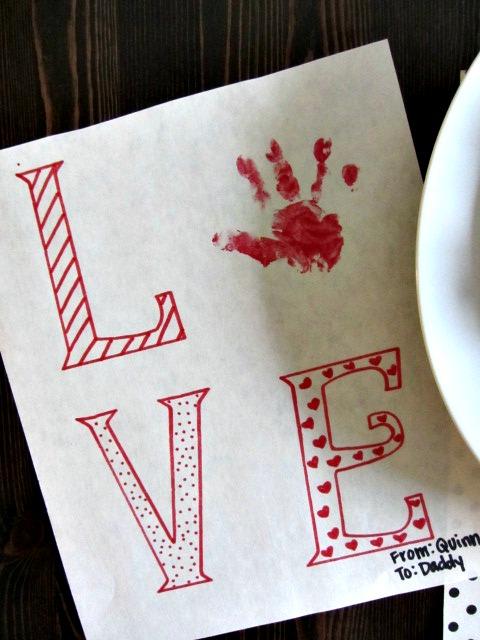 Quinn's Valentine to daddy.