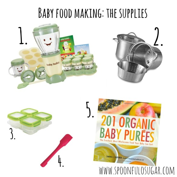 Baby Food Making The Supplies