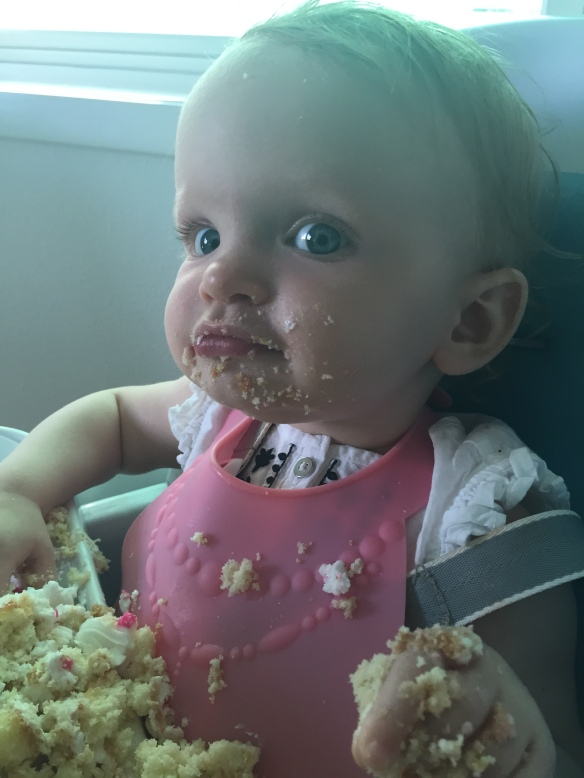 Cake is her new favorite food, I think.