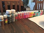 All of the paint!