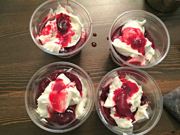 Top with remaining cherry sauce.