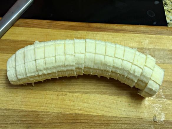 Slice a banana.