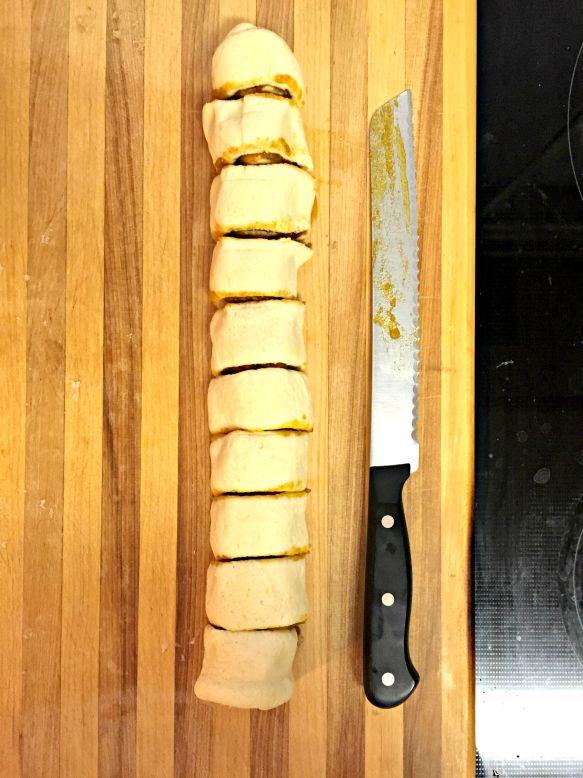 Slice into 10 equal pieces.