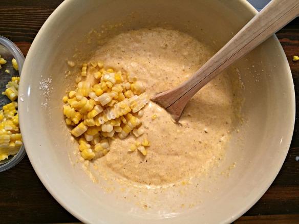 Fold in the corn.