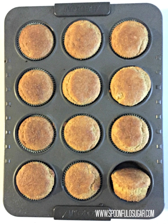 Bake for 18-23 minutes, until the centers of the muffins are set.