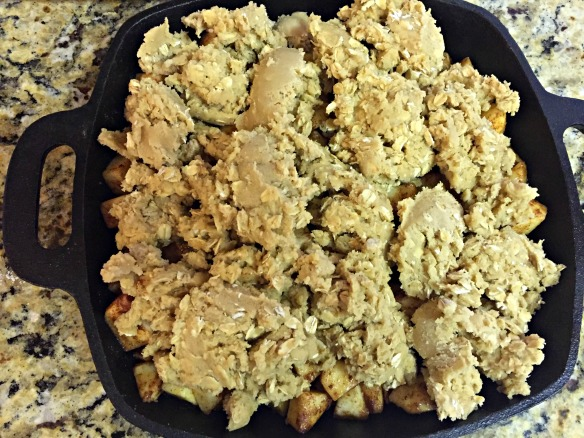 Top with spoonfuls chilled cookie dough mixture.