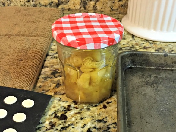 I had leftover apple compote, so I jarred it up. It will be perfect for topping ice cream or pancakes!