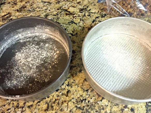 Butter & flour 2 9-inch cake pans.