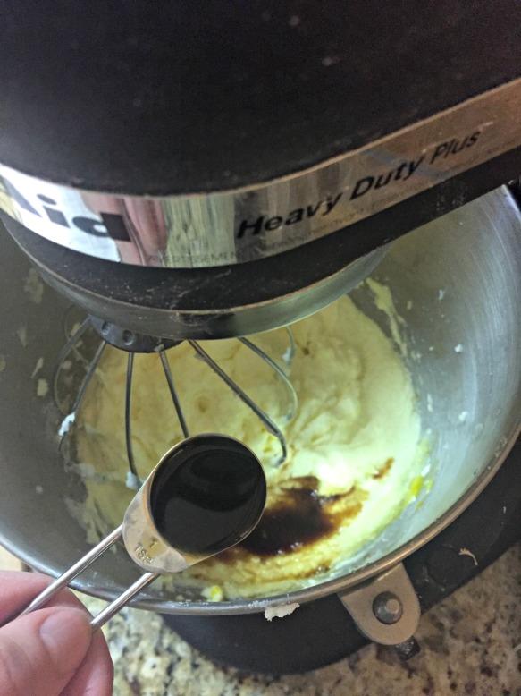 Mix in the vanilla.
