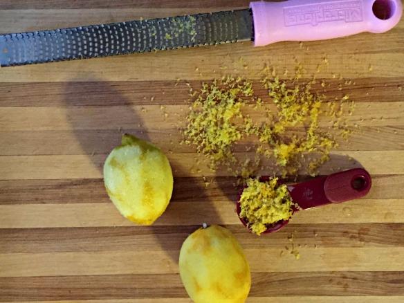 Zest up that lemon.