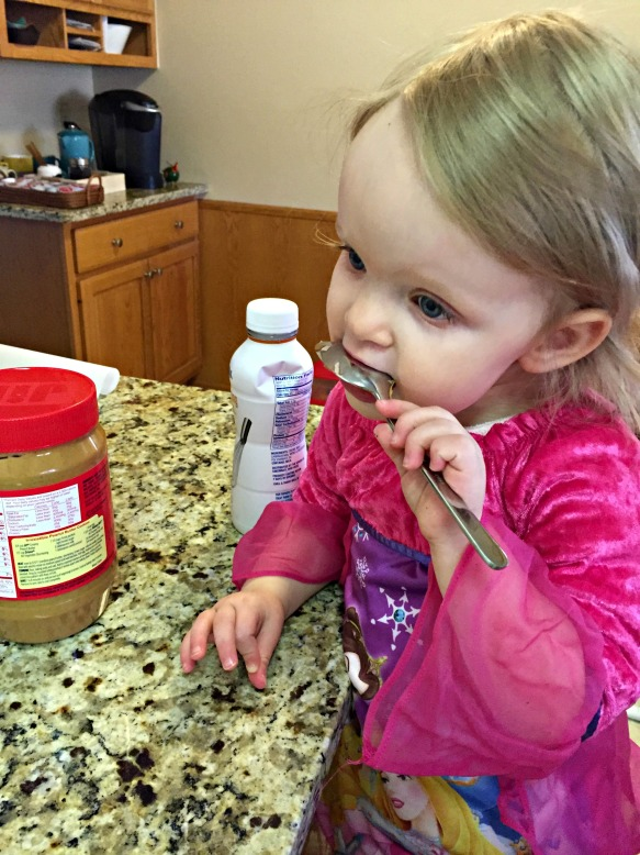 If you have a toddler assisting you, I'm pretty sure they have dibs on licking the spoon.