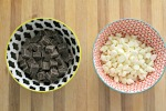 Add chocolate to a microwave-safe bowl and heat in 15-second increments, stirring in between until fully melted.